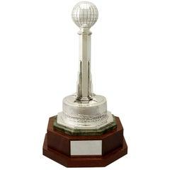 Antique George VI Art Deco Sterling Silver Presentation Trophy