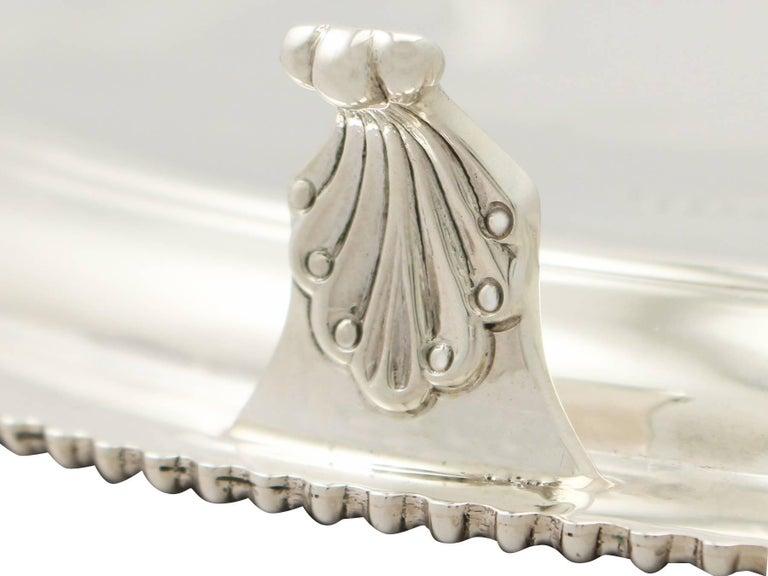 Antique George VI English Sterling Silver Presentation Salver For Sale 1