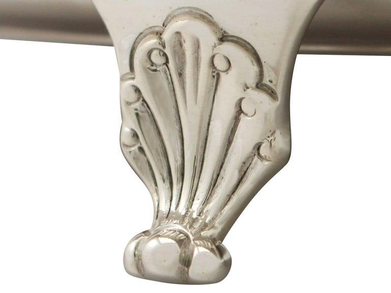 Antique George VI English Sterling Silver Presentation Salver For Sale 2