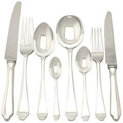 Antique George VI Sterling Silver Canteen of Cutlery for Six Persons, 1937