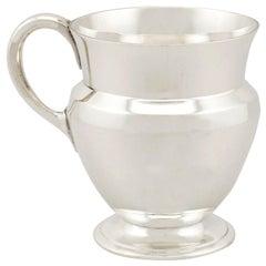 Antique George VI Sterling Silver Christening Mug