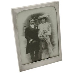 Antique George VI Sterling Silver Photograph Frame