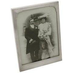 Antique George VI Sterling Silver Photograph Frame