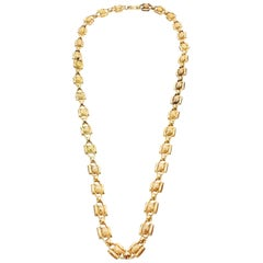 Antique Georgian 15 Karat Gold Chain, England, 1830s