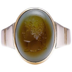 Antique, Georgian, 18 Carat Gold, French, Carved Intaglio Ring