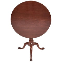 Antique Georgian 18th Century Mahogany Tripod Table