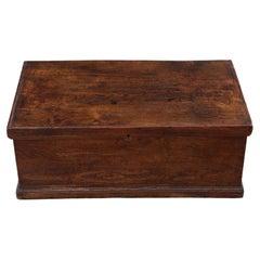 Antique Georgian 18th Century Small Elm Coffer Box