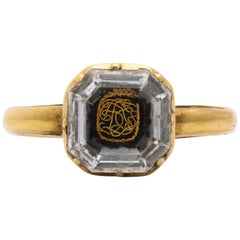 Antique Georgian 18th Century Stuart Crystal Ring