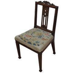 Antique Georgian Adam period mahogany single 18th century Chair.