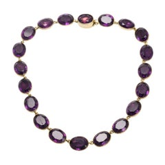 Antique Georgian Amethyst Paste Rivière Necklace