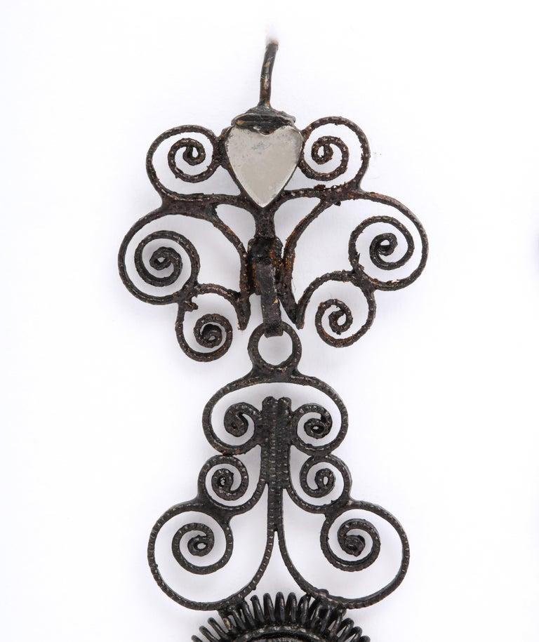 Antique Georgian Berlin Iron Chandelier Earrings For Sale 2