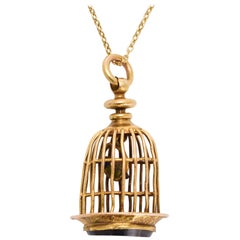 Antique Georgian Bird Cage Seal Pendant