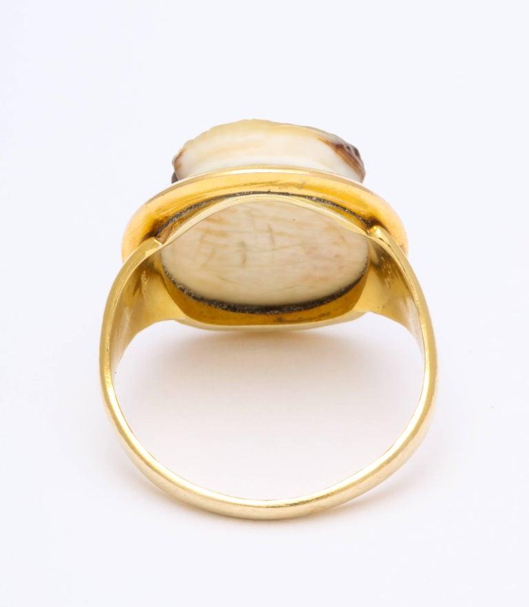 Antique Georgian Fine Cameo Ring of a Blackamoor For Sale 1