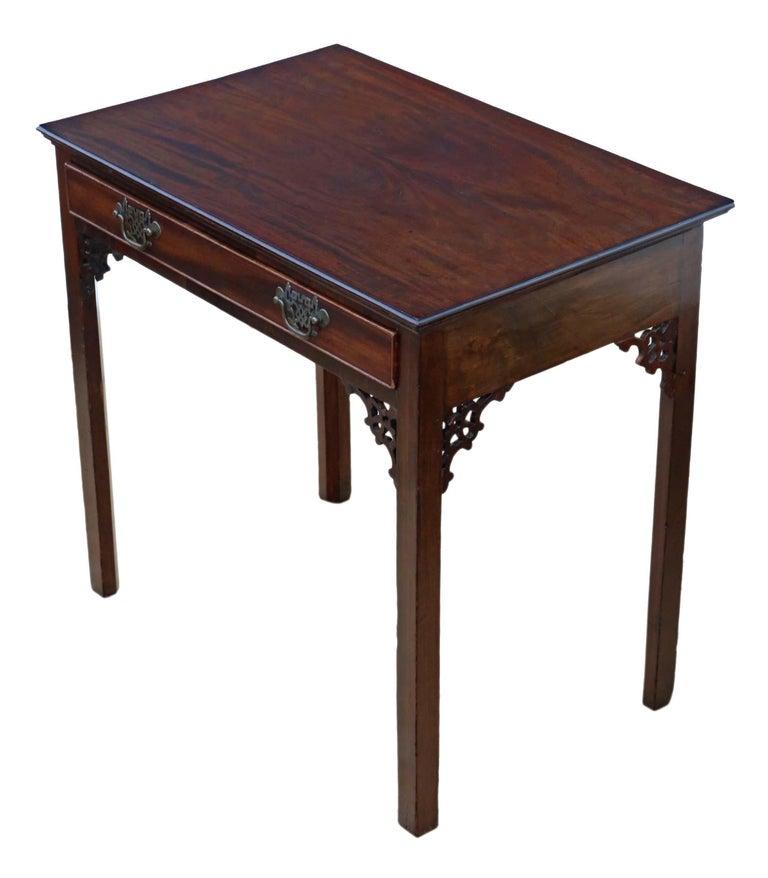 Early 19th Century Antique Georgian circa 1800 Cuban Mahogany Writing Side Table Desk For Sale