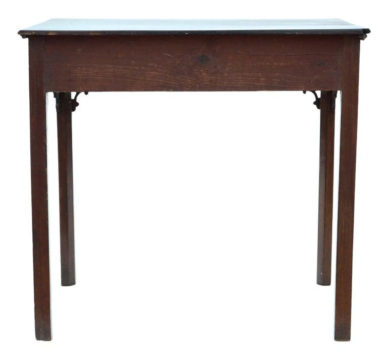 Antique Georgian circa 1800 Cuban Mahogany Writing Side Table Desk For Sale 3