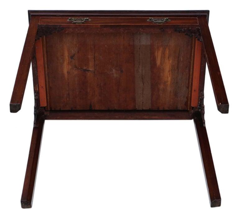 Antique Georgian circa 1800 Cuban Mahogany Writing Side Table Desk For Sale 4