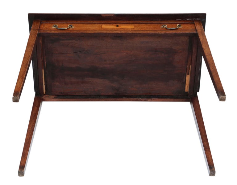 Antique Georgian circa 1800 Inlaid Mahogany Writing Side Table Desk 6