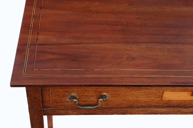 Early 19th Century Antique Georgian circa 1800 Inlaid Mahogany Writing Side Table Desk
