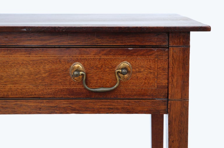 Antique Georgian circa 1800 Inlaid Mahogany Writing Side Table Desk 1