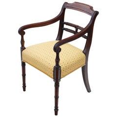 Antique Georgian circa 1820 Mahogany Elbow Desk Carver Chair