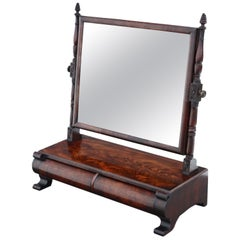 Antique Georgian circa 1825 Mahogany Dressing Table Swing Mirror