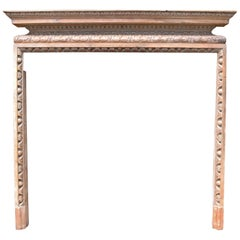 Antique Georgian Carved Pine Fire Surround