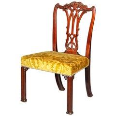 Antique Georgian Chippendale Chair, circa 1765