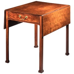 Antique Georgian Chippendale Drop-Leaf Table, Late 18th Century