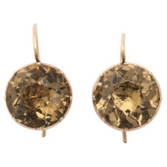 Antique Georgian Citrine Drop Earrings, circa 1820-1830