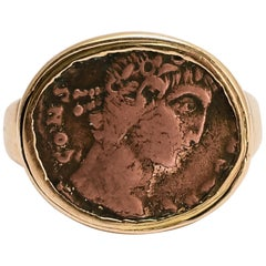 "Antique Georgian ""Constantine The Great"" Roman Coin Ring"