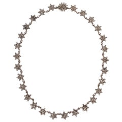 Antique Georgian Cut Steel Star Necklace