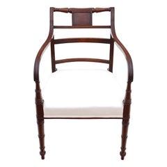 Antique Georgian Elbow Carver Desk Chair