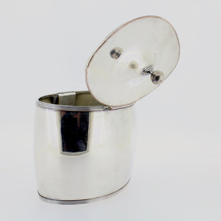 Antique Georgian English Sheffield Silver Plate Tea Caddy For Sale 5