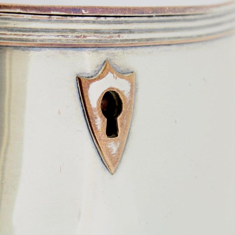 Antique Georgian English Sheffield Silver Plate Tea Caddy For Sale 6