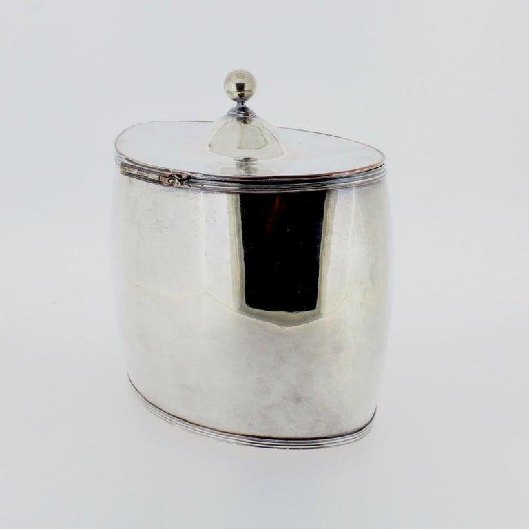 Women's or Men's Antique Georgian English Sheffield Silver Plate Tea Caddy For Sale