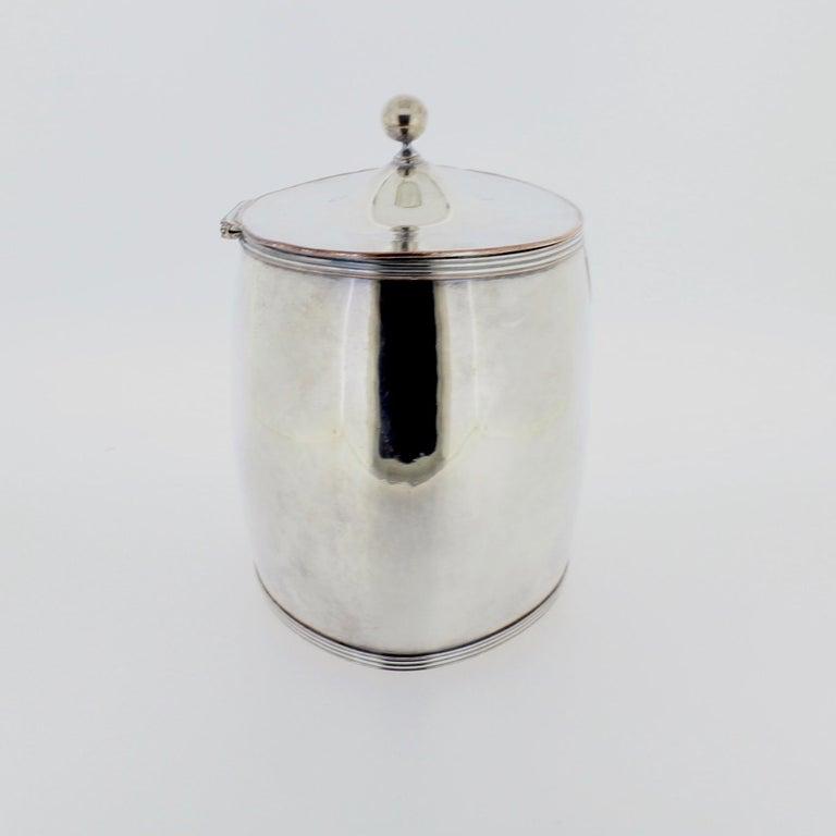 Antique Georgian English Sheffield Silver Plate Tea Caddy For Sale 1