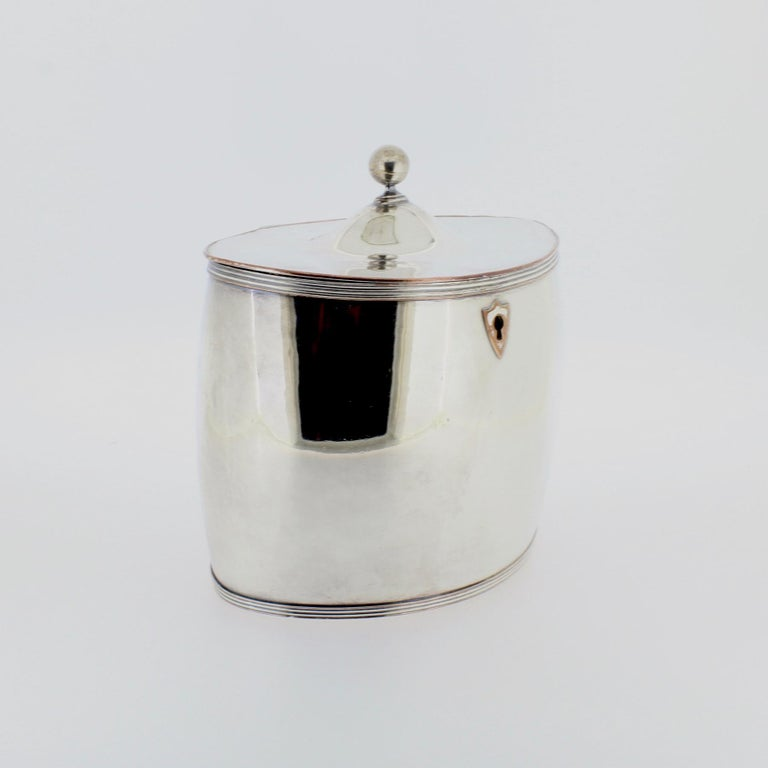 Antique Georgian English Sheffield Silver Plate Tea Caddy For Sale 2
