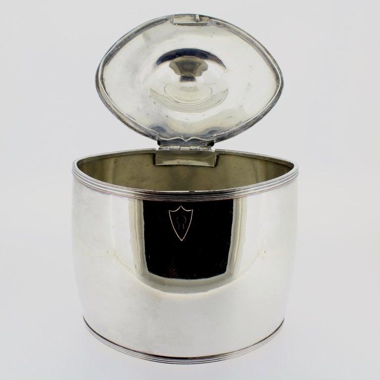 Antique Georgian English Sheffield Silver Plate Tea Caddy For Sale 3