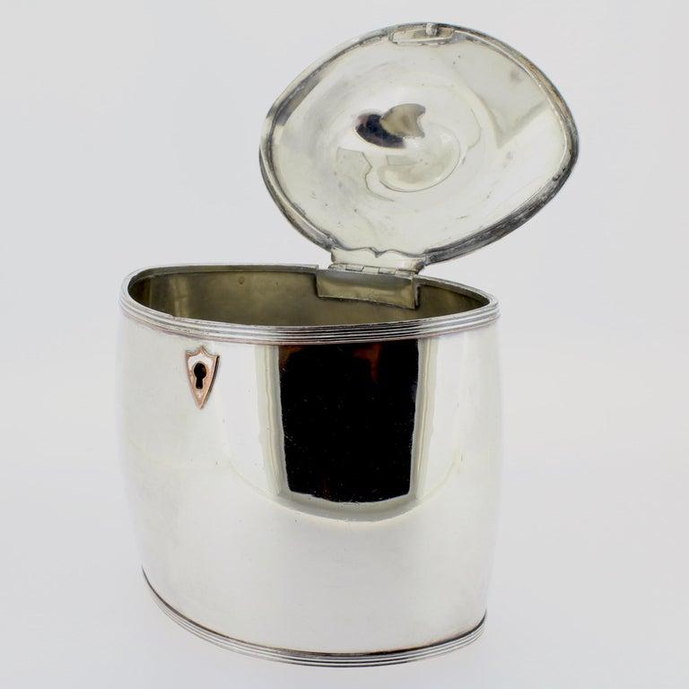 Antique Georgian English Sheffield Silver Plate Tea Caddy For Sale 4