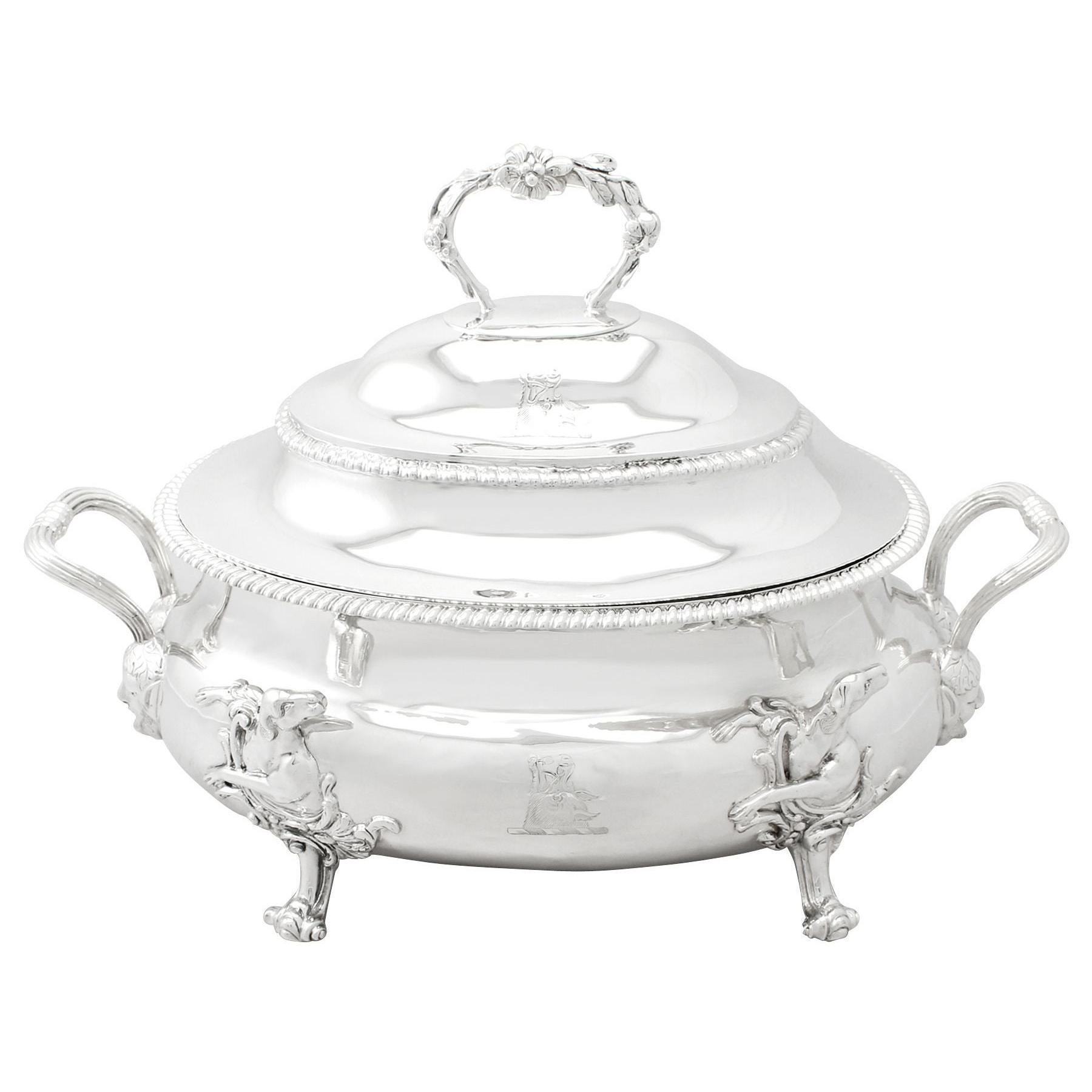 Antique Georgian English Sterling Silver Soup Tureen