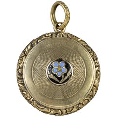 Antique Georgian Forget Me Not Locket 18 Carat Gold, circa 1830