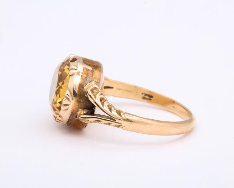 George III Antique Georgian 4 Carat Topaz Ring For Sale