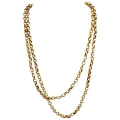 Georgian 'George III' 18 Karat Gold Long Albert Chain, England, circa 1830s