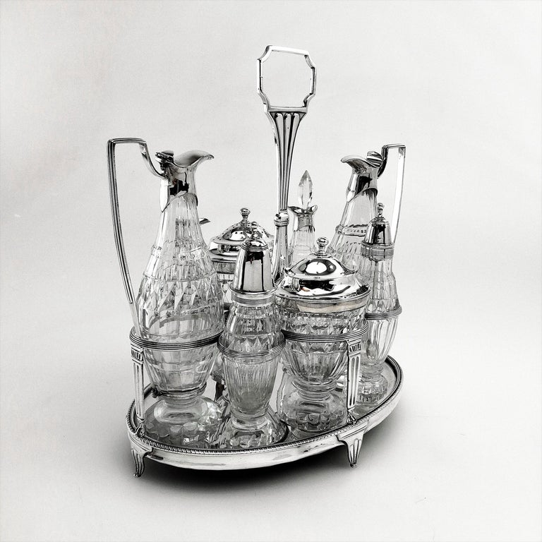 Antique Georgian George III Cruet Set / Condiment Stand 1802 In Good Condition For Sale In London, GB