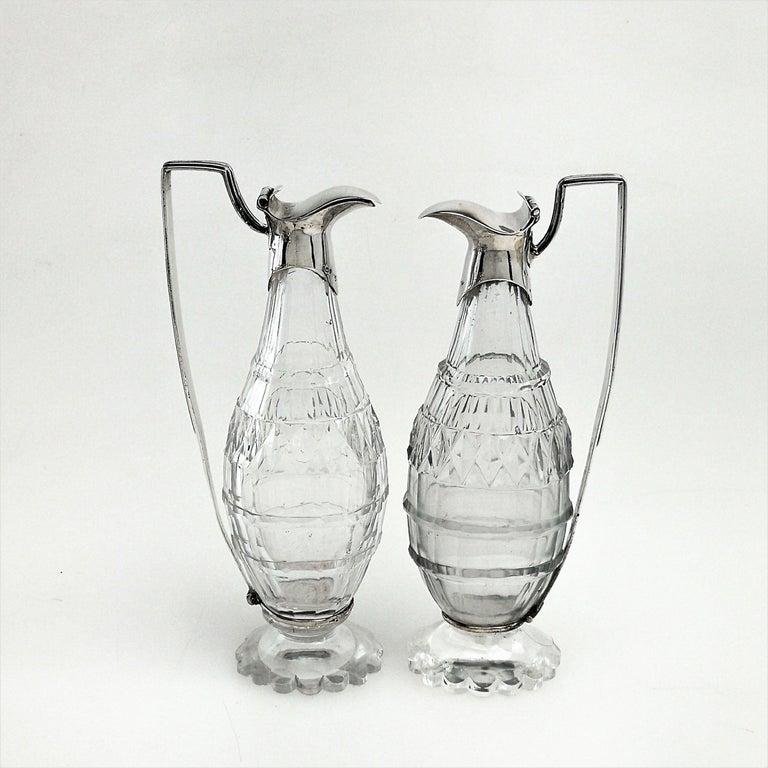 Sterling Silver Antique Georgian George III Cruet Set / Condiment Stand 1802 For Sale