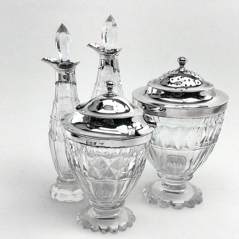 Antique Georgian George III Cruet Set / Condiment Stand 1802 For Sale 2