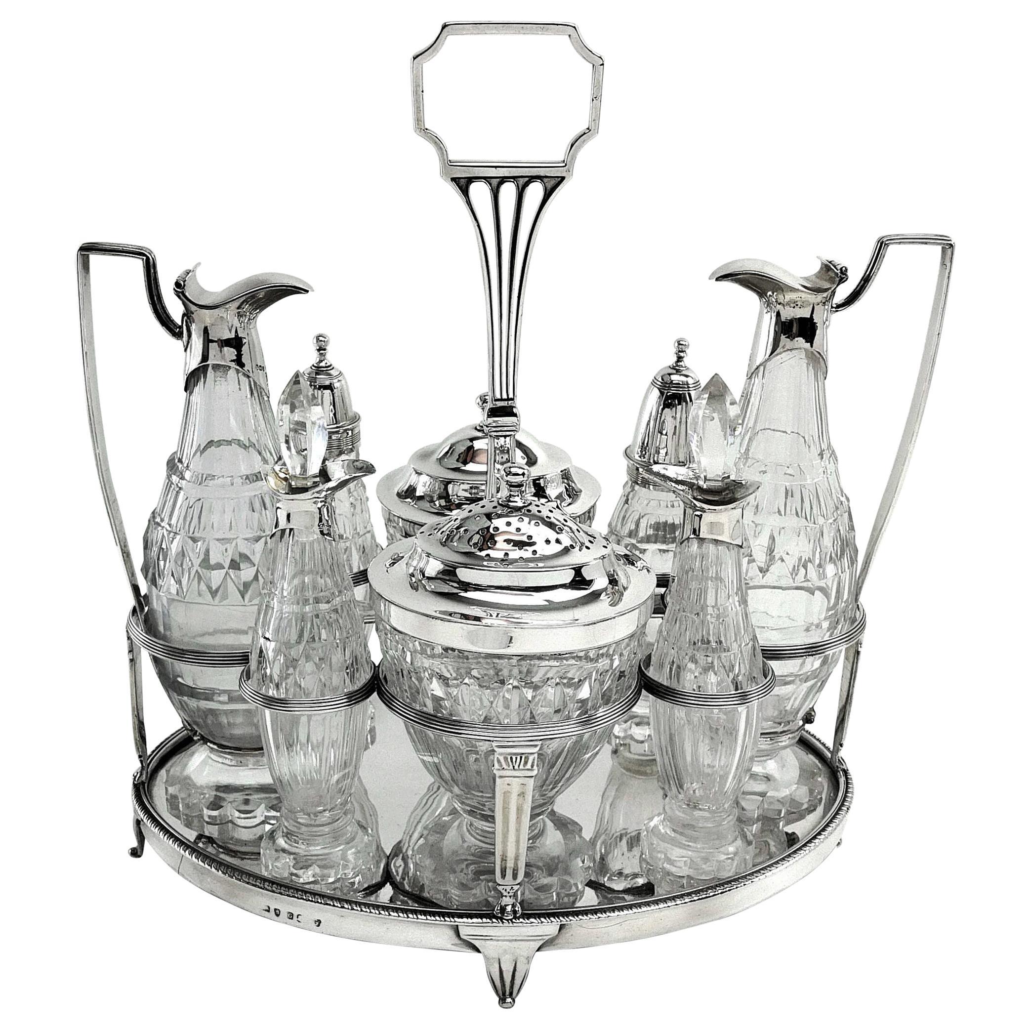 Antique Georgian George III Cruet Set / Condiment Stand 1802