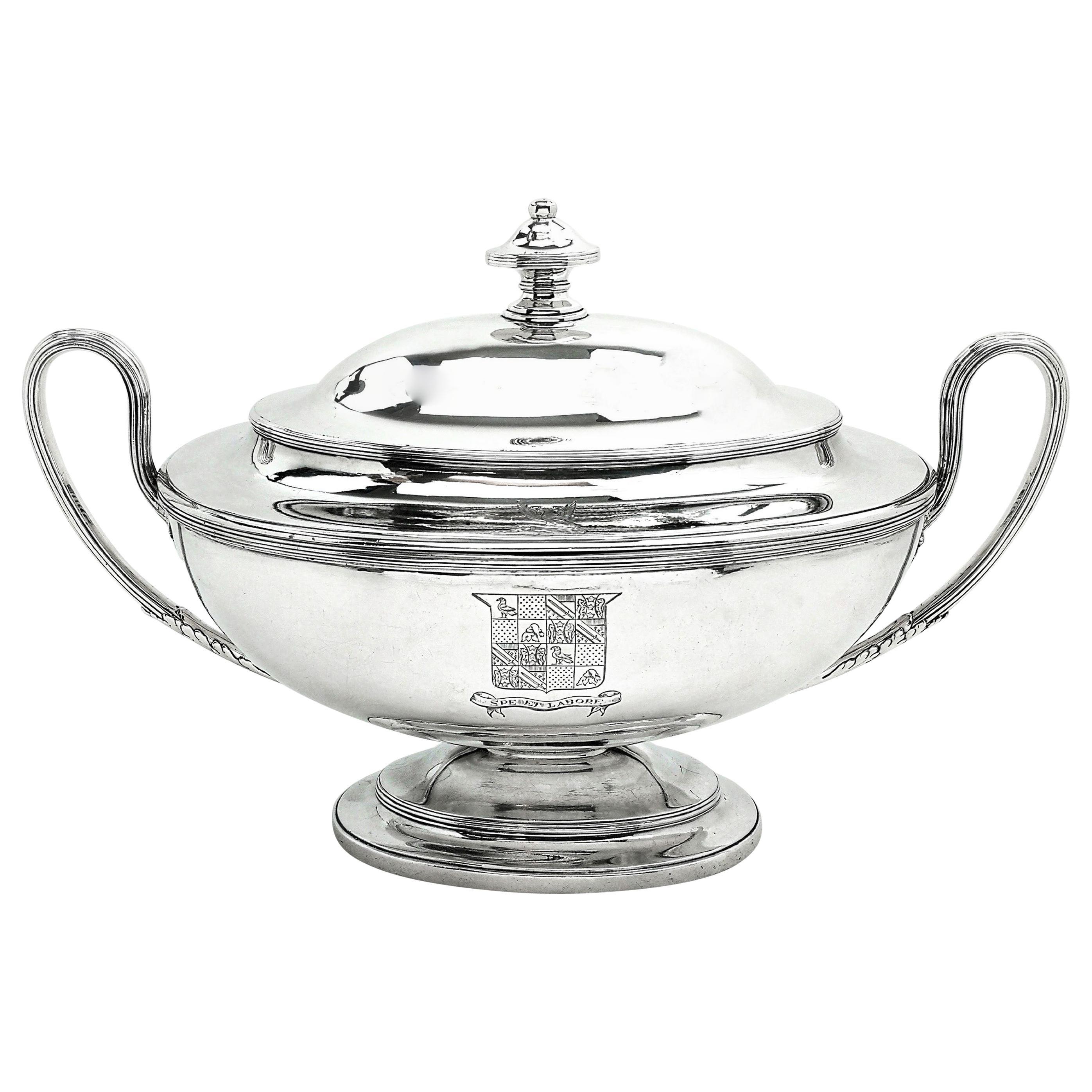 Antique Georgian George III Silver Soup Tureen 1779 Serving Tableware