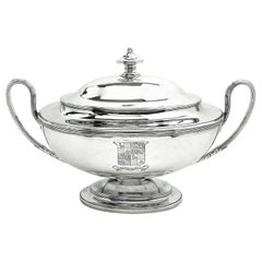 Antique Georgian George III Silver Soup Tureen 1779 Serving Tableware