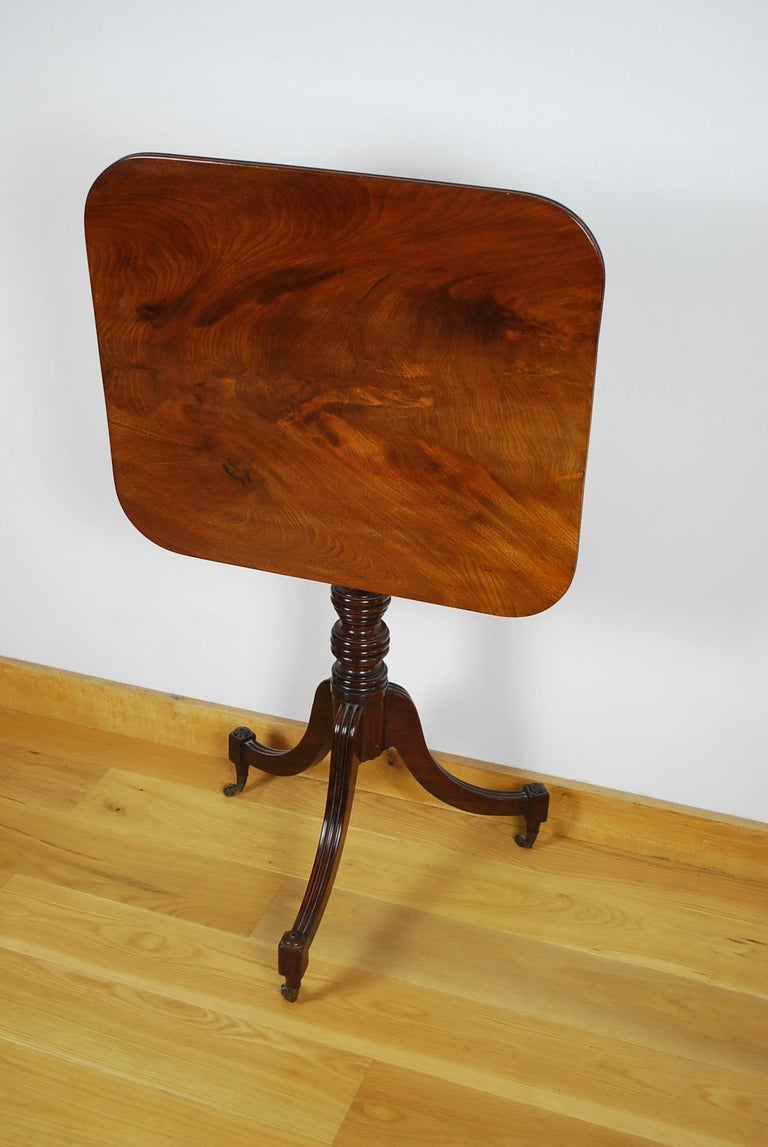 19th Century Antique Georgian Gillows Tripod/ Occasional Table  For Sale
